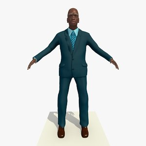 old african male man 3d model