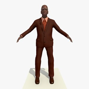 3d 3ds old african male man