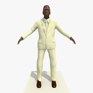 c4d old african male man