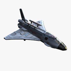 3d model space shuttle ranger concept