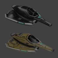 spaceships 3d model