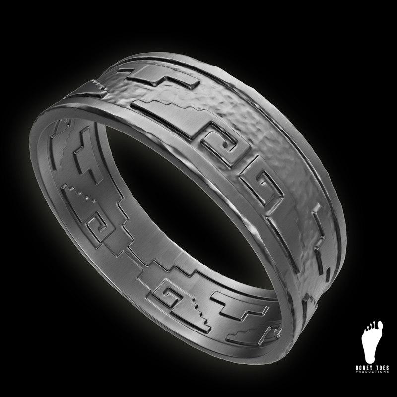 3d aztec ring model