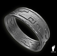 3d model of aztec ring