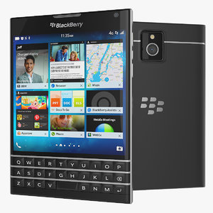 blackberry passport smartphone black 3ds