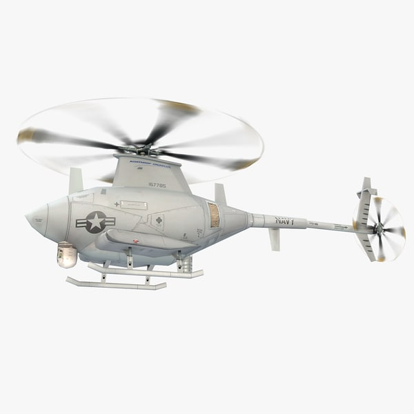 3d model northrop mq-8 scout flight