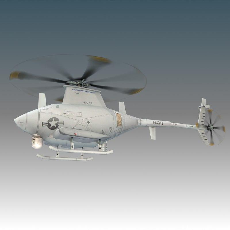 3d model northrop mq-8 scout flight