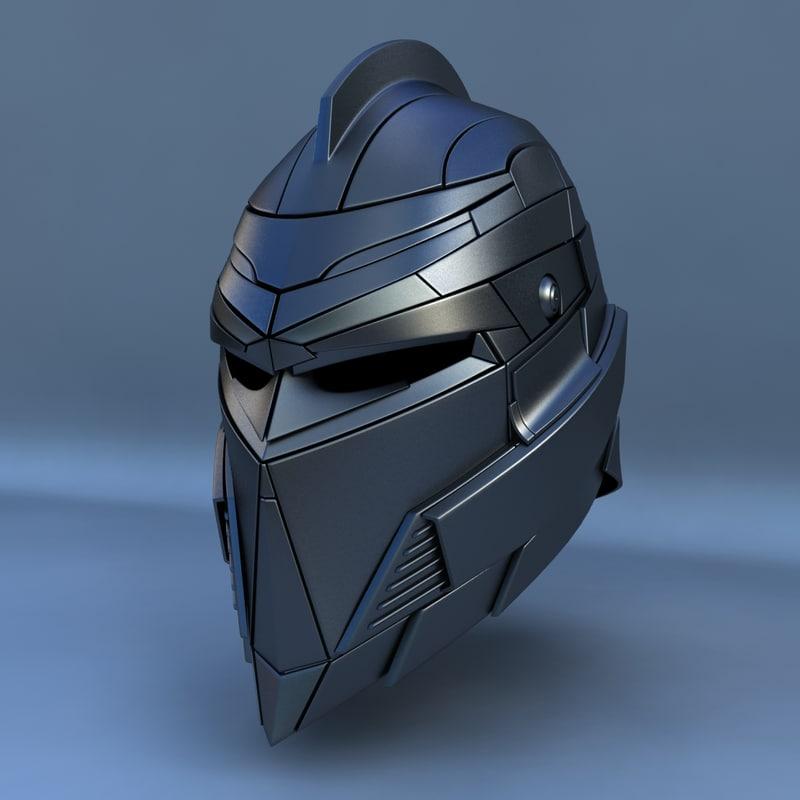 3d robot head type f