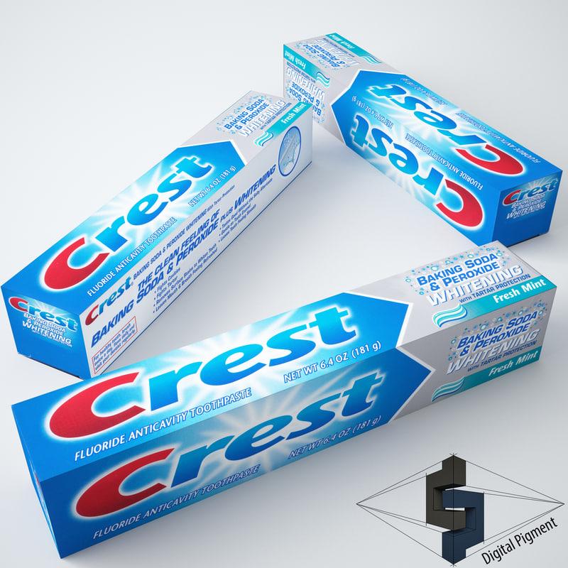 crest whitening toothpaste 3d max