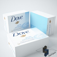 3d model dove soap bar
