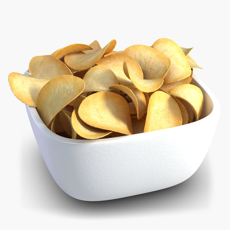 3d model bowl chips