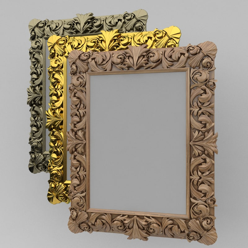 3d model of picture frame reliq