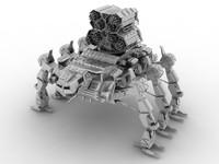 3d mecha robot model