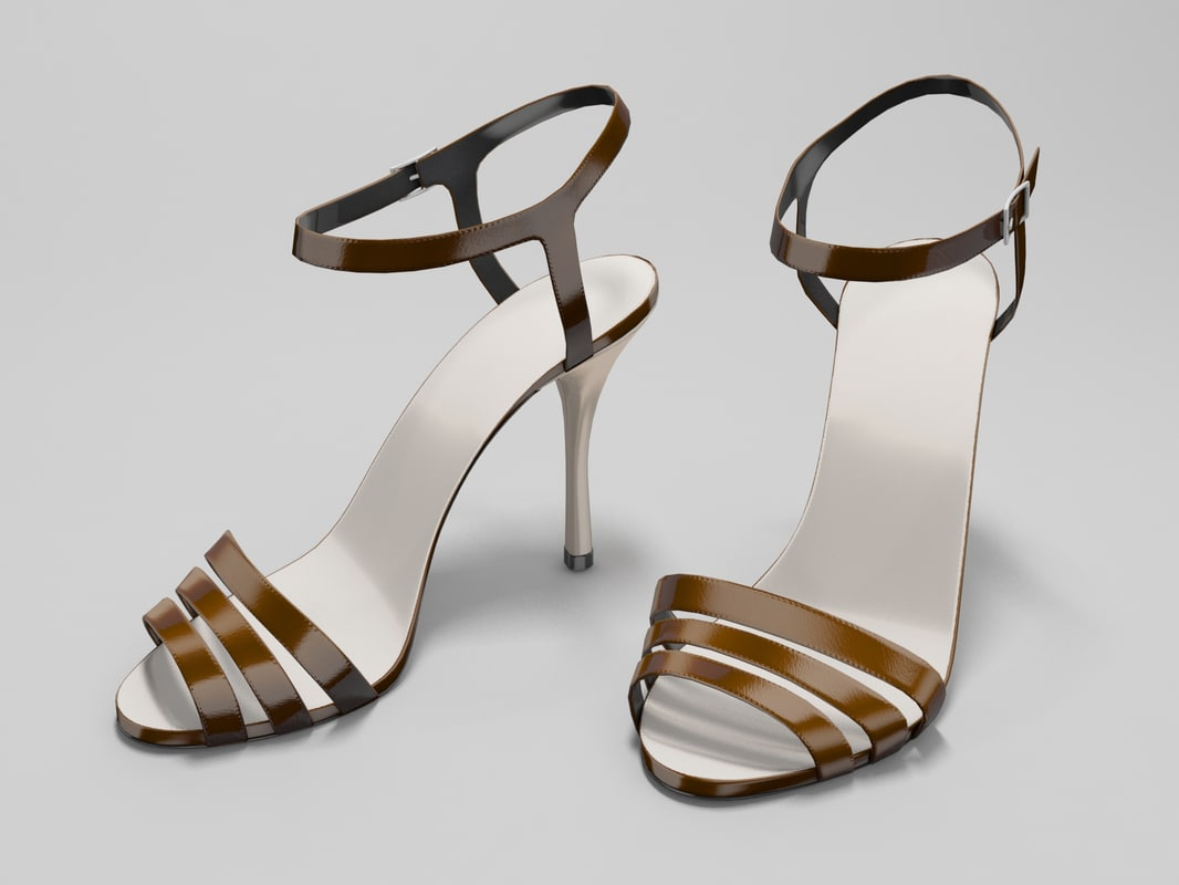 3d model of high-heeled sandals