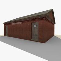 old public toilet building exterior 3d model