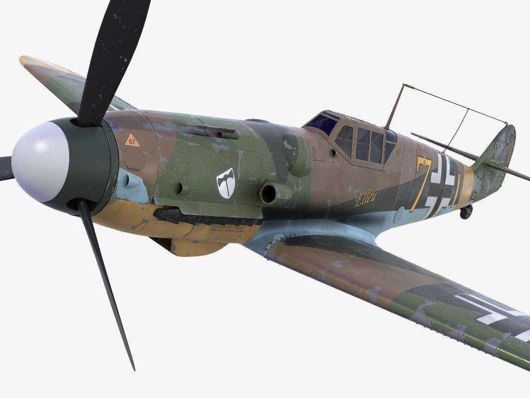 3d bf-109 german fighter 2