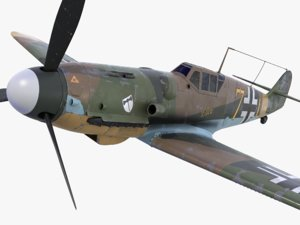 3d bf-109 german fighter 2