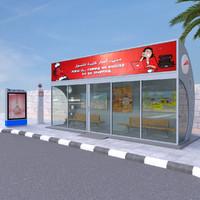 3d dubai bus stop