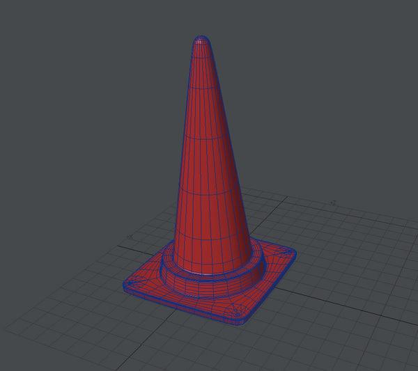 road cone japan 3d lwo