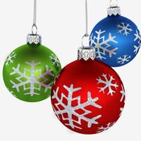Christmas Ornametns Balls Flakes