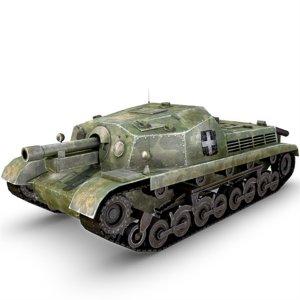 3d model 43m zrinyi ii tank gun