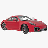 porsche cayman gts 2015 3d model