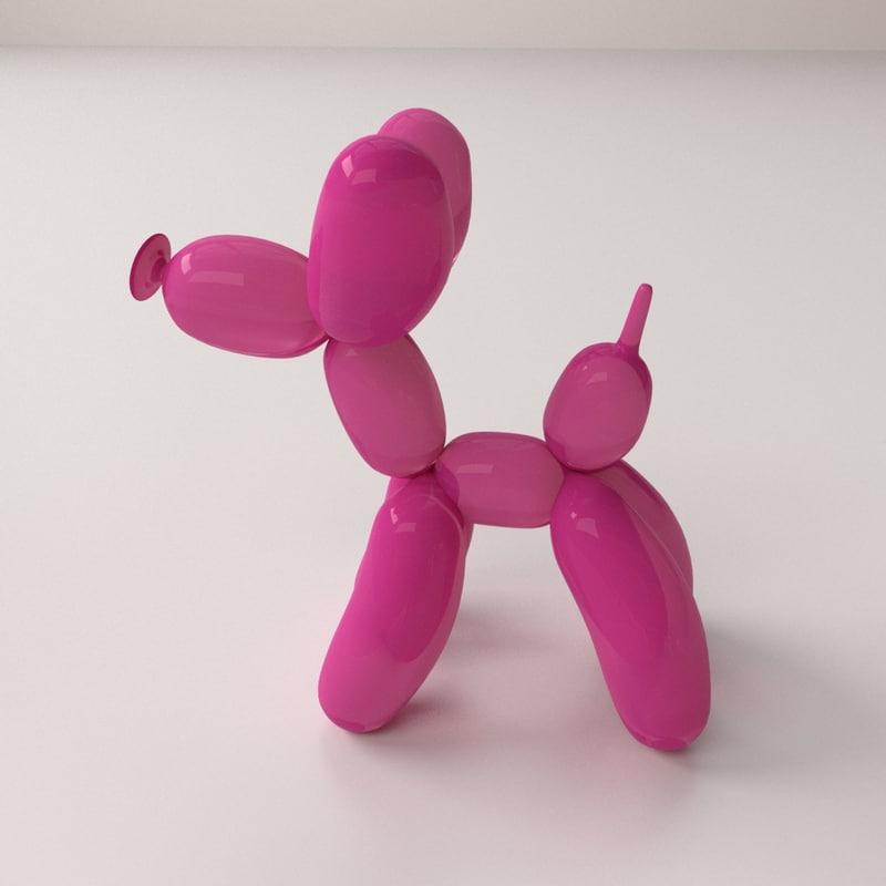 3d balloon poodle