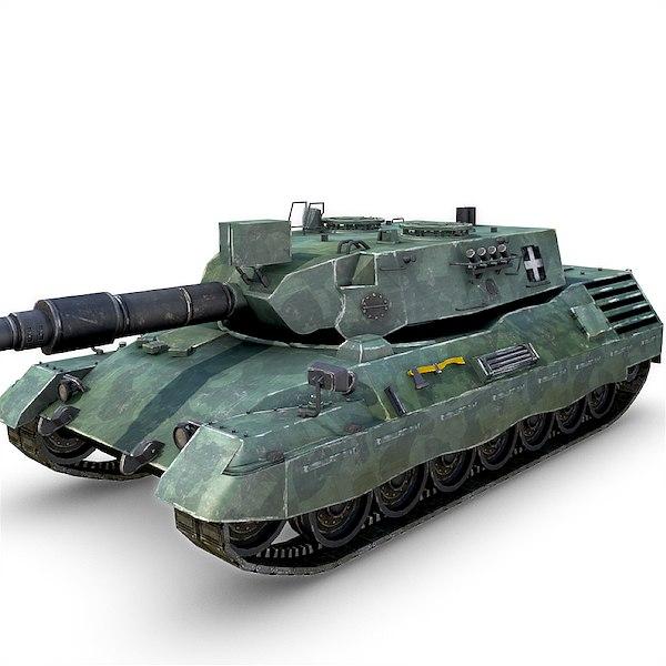 obj leopard tank