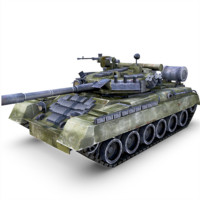 t-80 ud tank gun 3d obj