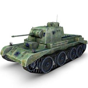 3d a13 cruiser mk tank gun model