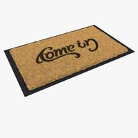 3d door mat doormat model