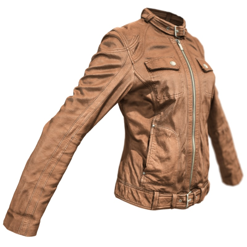 3d brown leather jacket model