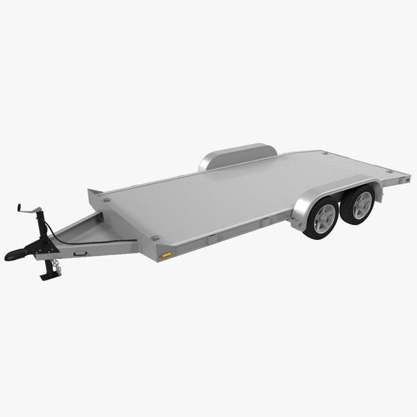 aluminum trailer 3d model