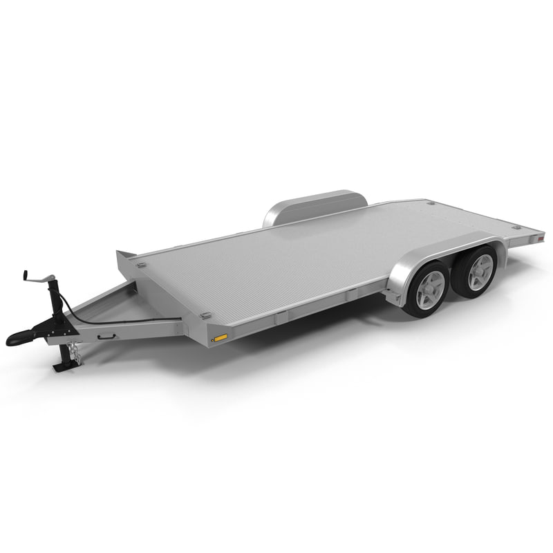 aluminum trailer 3d model