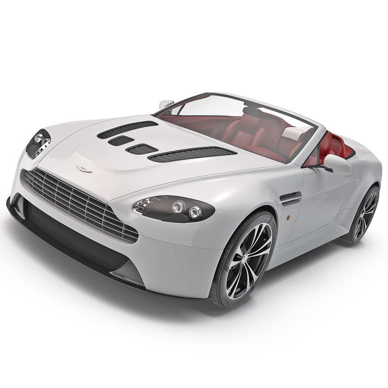 2012 Aston Martin Vantage Interior: Aston Martin Vantage 2014 3d Model