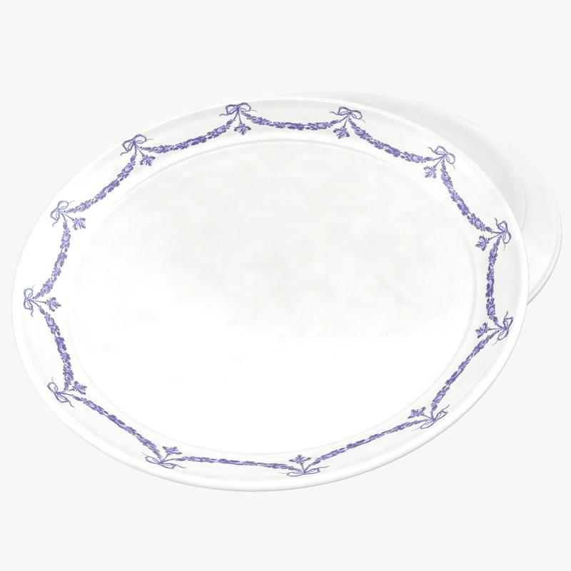 3d model of dinner plate 2