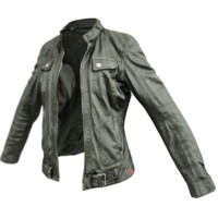 3d black leather jacket
