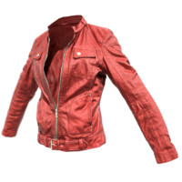 red leather jacket 3d obj