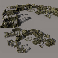 3ds max ancient city ruin
