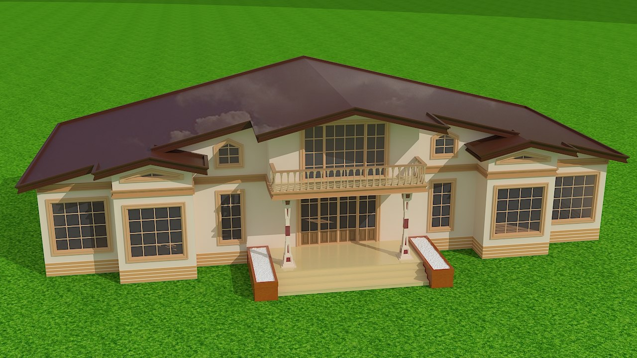 private mansion 3d max