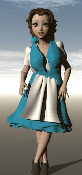 free belle 3d model