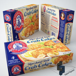 3d maryland style crab cakes model