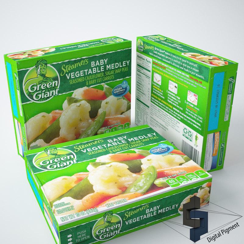3dsmax green giant baby vegetable