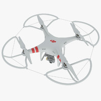dji phantom 2 quadrocopter 3d max