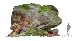 stone boulders nature model