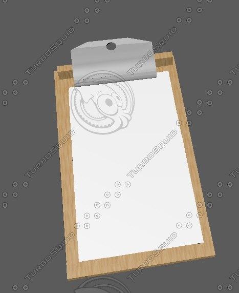 free c4d model simple clipboard