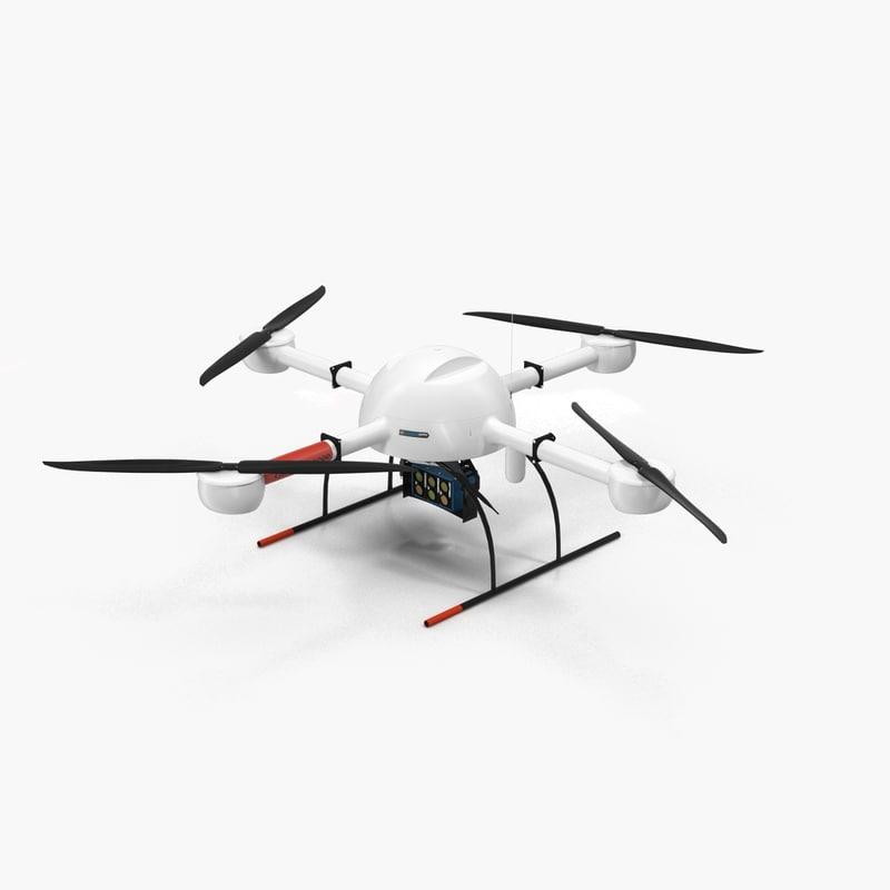 quadrocopter md 4-1000 3d model