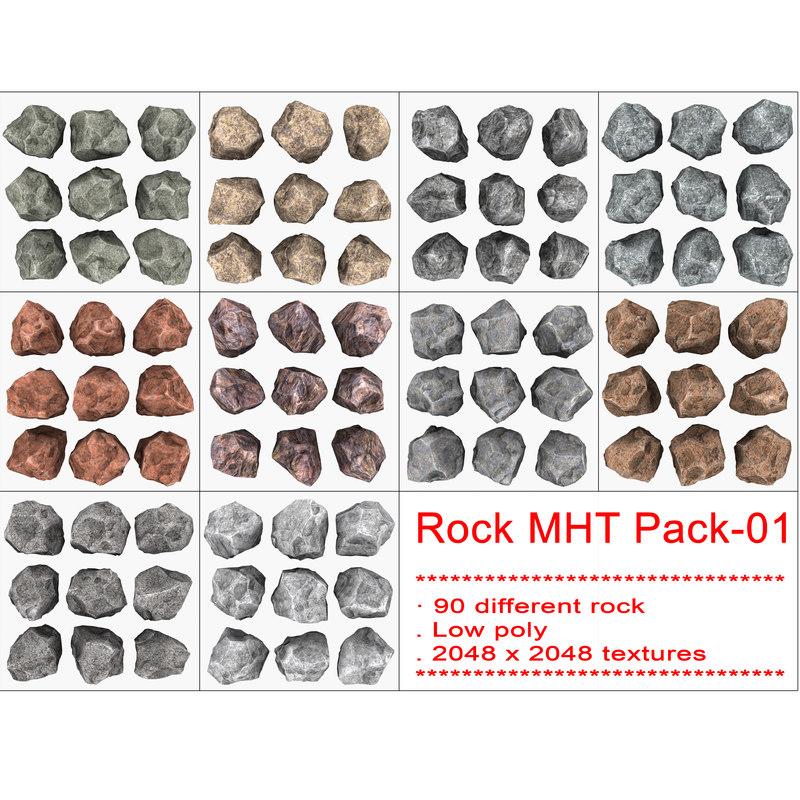 rock mht pack-01 3d model