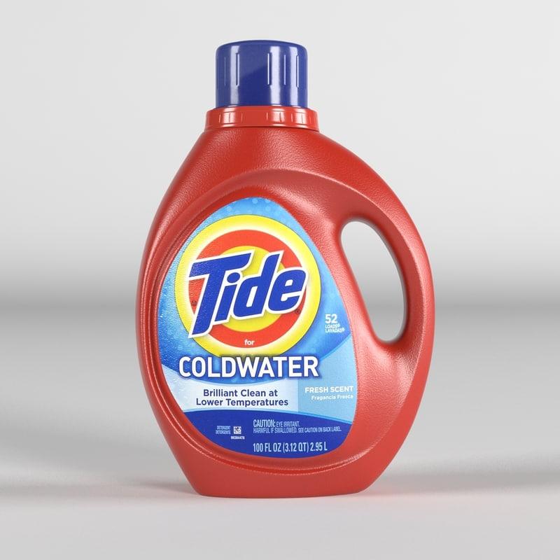 3d model tide detergent