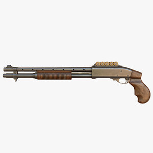 shotgun ready 3d obj