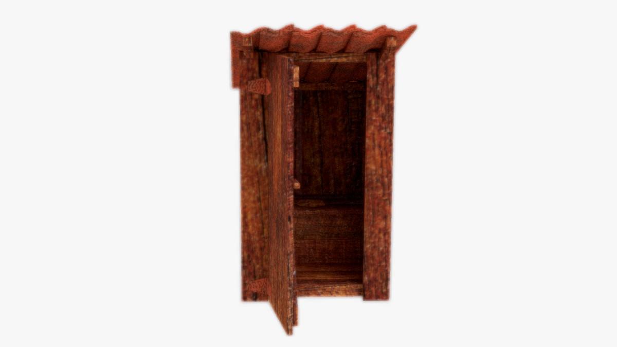 toilet wood 3d model